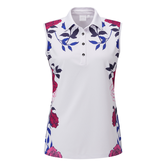 PING Rose Garden Sleeveless Polo Shirt